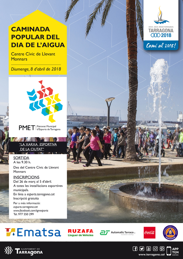 Cartell de la Caminada Popular del Dia de l'Aigua 2018