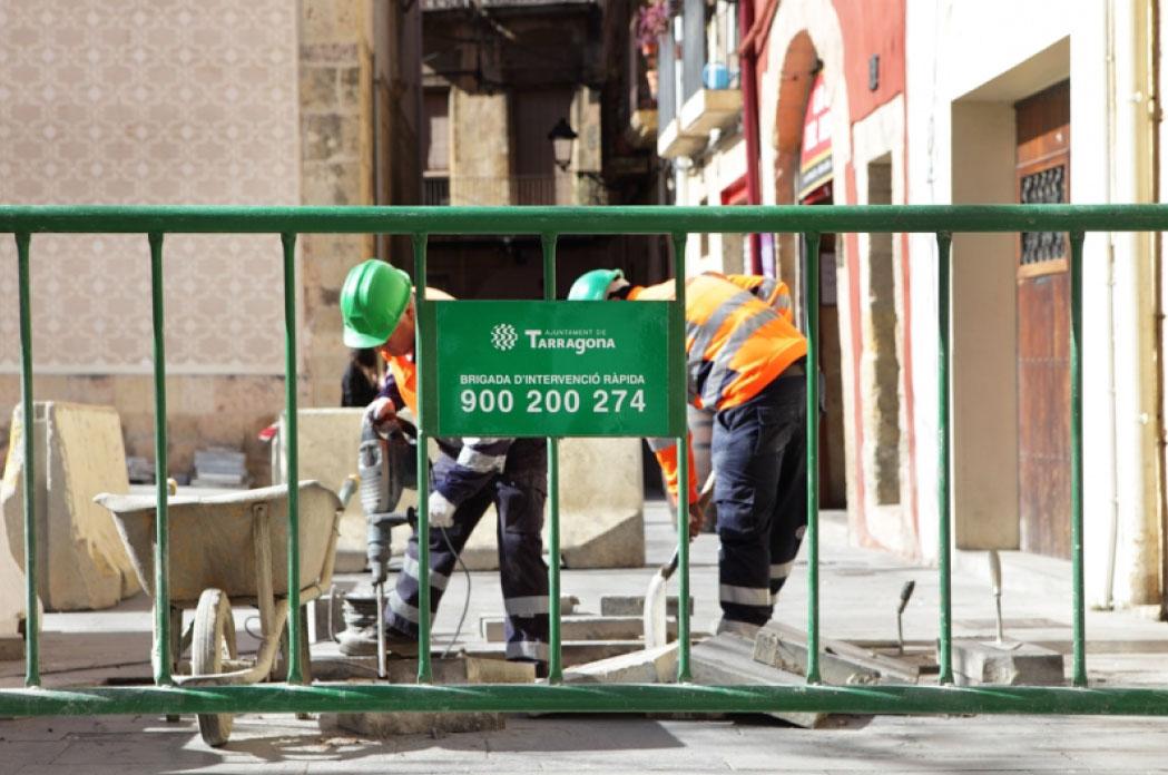 Intervención de la BIR en la reparación de pavimento