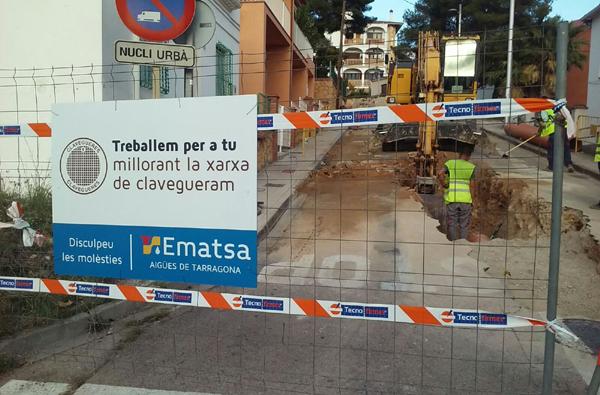 Obres de renovació del col·lector de clavegueram del carrer Major de Monnars