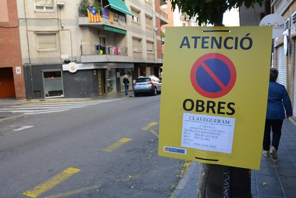 Obres al carrer Sevilla