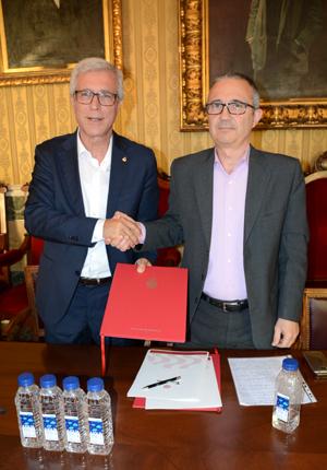 L'Alcalde de Tarragona el Sr. Josep Fèlix Ballesteros amb el director-gerent d'Ematsa, el Sr. Daniel Milan