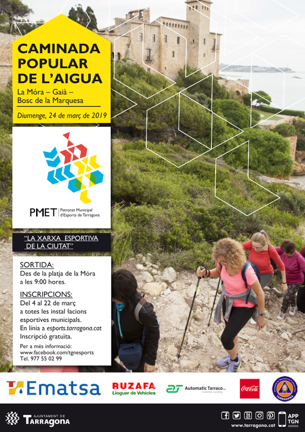 Cartell de la Caminada Popular de l'Aigua 2019