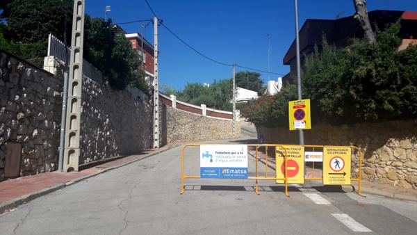 Obres de renovació de la xarxa d'aigua potable a Cala Romana